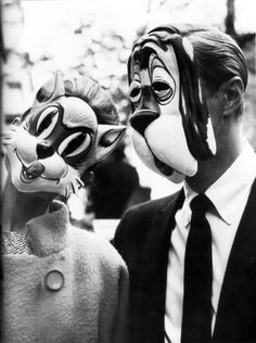 "vintagegal:    Audrey Hepburn and George Peppard in ""Breakfast at Tiffany's"" 1961"
