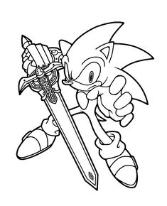 sonic coloring pages for kids printable free - Sonic Pictures To Colour