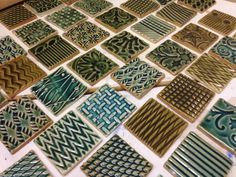 Gary Jackson, Fire When Ready Pottery, Chicago... Beautiful tiles!