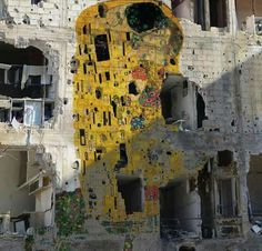 Homage to Gustav Klimt by Tammam Azzam ,Syria. Hope for peace
