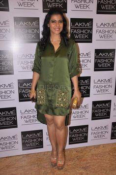 Kajol was spotted at Anushka Khanna's show at Lakme Fashion Week. The show was also attended by Manish Malhotra, Ashiesh Shah, Shabana Azmi, Gaurav a...