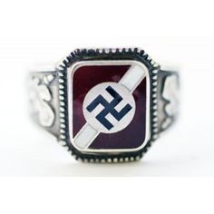 WW II German silver ring - German rings and other Nazi awards
