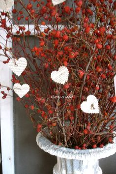 ~** L o V e  I s  I n  T h e A i r  **~               I've had this Dried Pepper-Berry Heart Wreath  for about 20 years!!!  Now  time~wo...