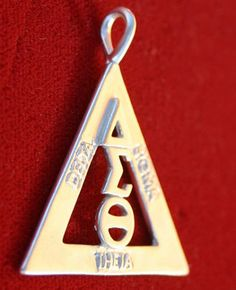 Delta Sigma Theta Sterling Silver Pyramid Pendant in Collectibles Sorority Life, Sorority Fashion, Delta Sigma Theta Gifts, Delta Girl, Omega Psi Phi, Fraternity, Thats Not My, Sterling Silver, Red Pyramid