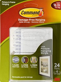 Command Picture and Frame Hanging Strips, Large (24 pairs) - http://darrenblogs.com/2015/09/command-picture-and-frame-hanging-strips-large-24-pairs/