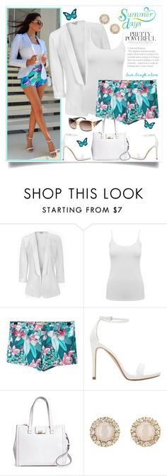 """""""Add a Pop of Colour to your Summer"""" by southindianmakeup1990 ❤ liked on Polyvore featuring Glamorous, M&Co, Zara, Brooks Brothers, Kate Spade and GUESS"""