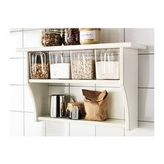 STENSTORP Vägghylla med lådor, vit - IKEA