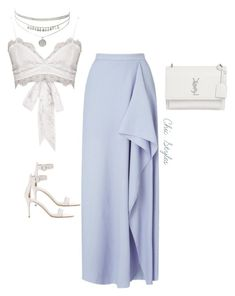 """Untitled #24"" by chic-designs ❤ liked on Polyvore featuring Roland Mouret, Yves Saint Laurent and Gianvito Rossi"