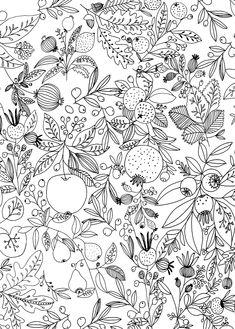 Botanic pattern by Ryn Frank www.rynfrank.co.uk
