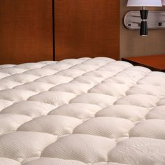 Extra Plush Bamboo Fitted Mattress Topper / Pad - Made in America - Queen