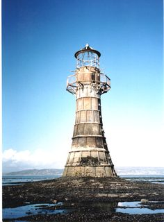 photo lighthouses | whitford lighthouse - england, angus macdonald