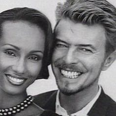 April 24, 1992: David marries supermodel Iman Mohamed Abdulmojid in a romantic setting in Tuscany.  They welcome their first child together, Alexandria Zahra Jones, on August 14, 2000. http://www.theguardian.com/uk/2000/aug/16/rebeccaallison