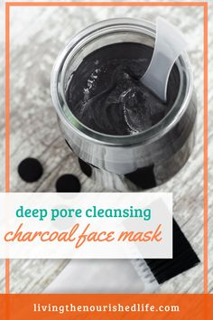 This charcoal mask recipe deep cleans your skin while restoring natural moisture - without glue! #diybeauty #charcoal #facemask