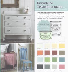 Rust Oleum Chalk Chalky Colour Chart Remake Furniture