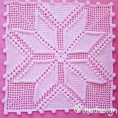 Crochet - (My Picot) Diagramed Stitch Patterns Filet Crochet, Crochet Motifs, Crochet Stitches Patterns, Crochet Squares, Crochet Chart, Thread Crochet, Crochet Designs, Crochet Doilies, Crochet Pillow Cases