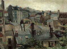 Vincent van Gogh - Overlooking the Roofs in Paris, 1886
