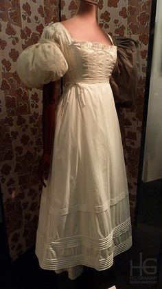 White corded petticoat, stays and sleeve puffs, est. 1830s by HLGraham, via Flickr
