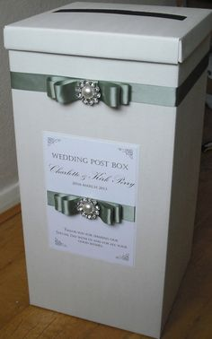 Luxury Vintage style Wedding Post Box by MadeSoPretty on Etsy, £18.50