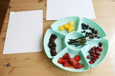 Nature Crafts: Fruit Paint and Charred Sticks
