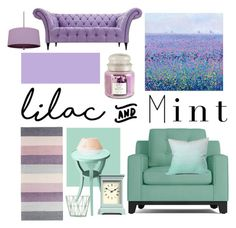 """Colour Challenge: Lilac & Mint"" by marinavl ❤ liked on Polyvore featuring interior, interiors, interior design, home, home decor, interior decorating, Hallmark, Williamsburg, Sebra and DENY Designs"
