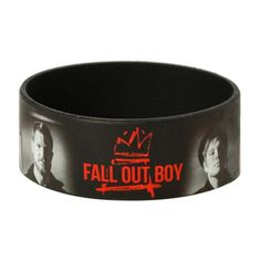 Best Bracelet 2017/ 2018 : Fall Out Boy Images Rubber Bracelet | Hot Topic ($5.60)  liked on Polyvore fe