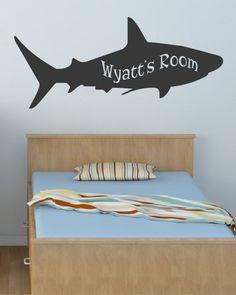 Kid's Name Shark Sea Animal Decal - Wall decals - Ocean Decals - Boys Girls Room Decal - Sharks - Ki Shark Bedroom, Kids Bedroom, Ocean Bedroom, Cool Ideas, Sharks For Kids, Boy Girl Room, Bedroom Themes, Bedrooms, Bedroom Ideas