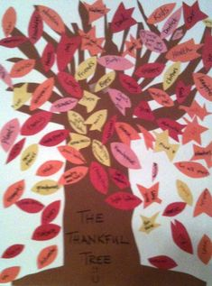 Thanksgiving Craft: How To Make a Thankful Tree — Perfect and fun activity and lesson for the whole family on gratitude.