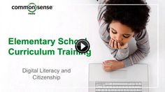 K-12 Online Curriculum Training - 1 hour of Professional Development about digital literacy| Common Sense Media