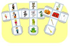 Un gros cube, un p'tit cube . Speech And Language, Language Arts, Story Dice, French Fairy Tales, Free Frames, Story Cubes, Teaching French, Learn To Read, Pre School