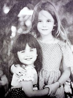 Natalie Wood (right)  poses with her sister, Lana    Nat looks like Natasha her daughter with Richard Gregson
