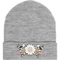 River Island Grey marl embellished beanie hat and other apparel, accessories and trends. Browse and shop related looks. Beanies, Beanie Hats, River Island, Small Knitting Projects, Grey Beanie, Grey Hat, Womens Clothing Stores, Womens Scarves, Caps Hats