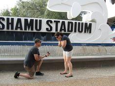 Melanie B. and Robert G. make it official at SeaWorld Orlando