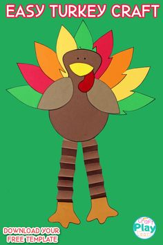 Thanksgiving Turkey Craft With Accordion Legs