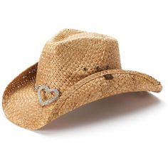 2e18eb99033 Women s Peter Grimm Straw Cowboy Hat ( 28) ❤ liked on Polyvore featuring  accessories