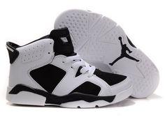 152af1d4d4b61f  85.97 Kid s Nike Air Jordan 6 Shoes White Black Jordan Shoes For Kids