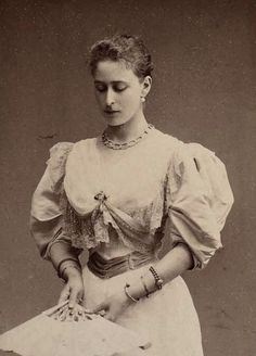 "Princess Elisabeth Alexandra Louise Alice ""Ella"" of Hesse (After marriage: Elisabeth Feodorovna Romanova of Russia) (1864-1918 murdered). 2nd child of Grand Duke Ludwig IV of Hesse & Princess Alice of UK. Wife of Grand Duke Sergei Alexandrovich of Russia (1857-1905 assassination), son of Emperor Alexander II of Russia.  Mid 1890s."