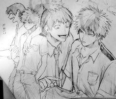 Boku no Hero Academia    Hanta Sero, Katsuki Bakugou (Dibujo/Drawing) by eisuri
