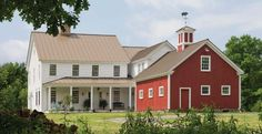 old farm house- new farm house... what a wonderful compromise! My husbands barn conversion and my farm home all in one. Perfection.