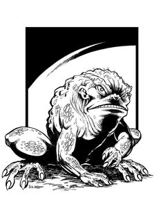 Eric Lofgren Presents: Frog Monster - Misfit Studios | Eric Lofgren | Publisher Resources | DriveThruRPG.com Michael Moorcock, Dungeons And Dragons Game, Stock Art, Art File, Misfits, Dark Fantasy, All Art, Art Images