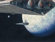 Star Destroyers Ralph Mcquarrie, Star Destroyer, Star Wars Ships, Star Wars Art, Science Fiction, Nave Star Wars, Alec Guinness, Photo Star, 70s Sci Fi Art