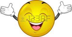 Illustration eines sehr glücklich Smiley photo