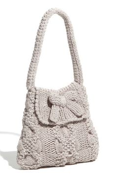 United Colors of Benetton Kids Cable Knit Bag (Girls) | Nordstrom