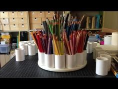 How To Make a Colored Pencil Storage Carousel (Tutorial) - YouTube
