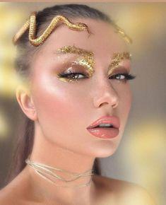 Fairy Makeup, Makeup Art, Beauty Makeup, Exotic Makeup, Medusa Makeup, Mermaid Makeup, Medusa Costume Makeup, Cleopatra Makeup, Make Up Looks