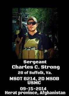 @LCplSwofford: This Marine Raider was killed in Afghanistan Monday. Please keep his family in your prayers. May he rest easy.