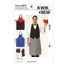 Buy Kwik Sew Apron Sewing Pattern, 3613 Online at johnlewis.com