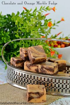 I combined two of my favorite flavors to create this delicious Chocolate and Orange Marble Fudge. This recipe makes plenty of fudge to give to your family