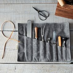 Waxed Canvas Tool Roll on Food52: http://food52.com/provisions/products/710-waxed-canvas-tool-roll. #F52Provisions