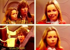 4th Doctor and Romana. Good lord, The Doctor and his TARDIS xD