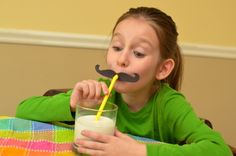 i mustache you a question ... :) -- silly mustache straws from @Valerie Avlo